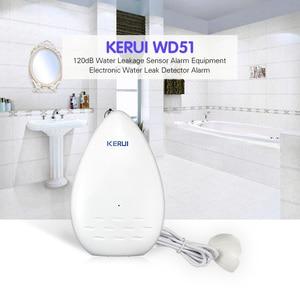 Image 2 - KERUI 120dB Home Security ALARM ยาว WD51 น้ำรั่วเซ็นเซอร์อุปกรณ์อิเล็กทรอนิกส์น้ำรั่วเครื่องตรวจจับเครื่องตรวจจับ