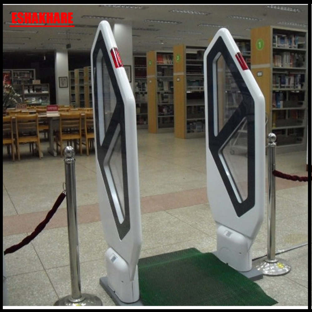 2018 book library security gate acrylic library security system with sound and light alarm library lion