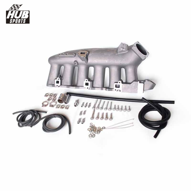 Engine Swap Turbo Intake Manifold For Nissan RB25 ECR33 High Performance HU-IT5932 engine swap turbo intake manifold for mitsubishi evo 4 9 4g63 high performance polished it5934