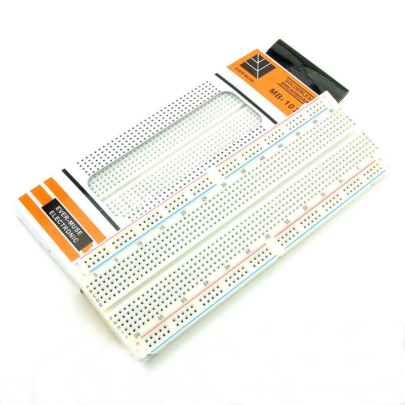 Hot DIY MB-102P MB102 Breadboard 830 Point Solderless CB Bread Board Test Develop for ATMEGA PIC Arduino UNO R3 Dropshipping 300 tie points prototype solderless breadboard white
