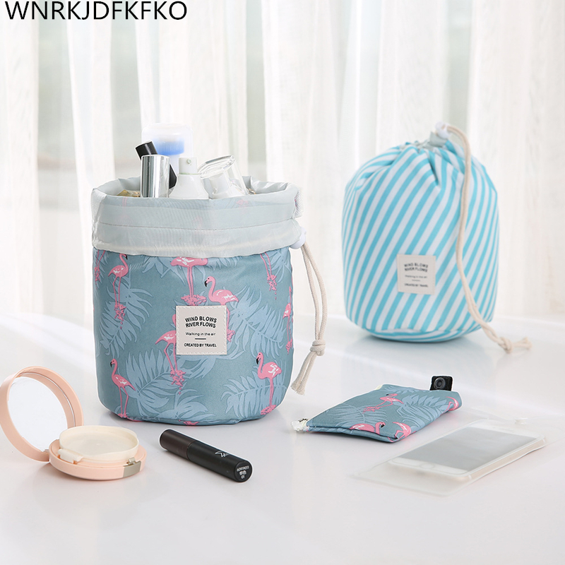 Special Offer Round Makeup Bag Waterproof Travel Cosmetic Bag Toilet Organizer Makeup Bags For Women Portable Drawstring Travel