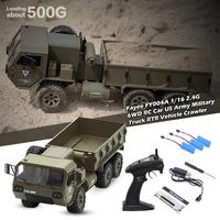 Fayee FY004A 1/16 2.4G 6WD RC Car US Army Military Truck RTR Vehicle Crawler 6 wheel Drive Cale RC Army Truck