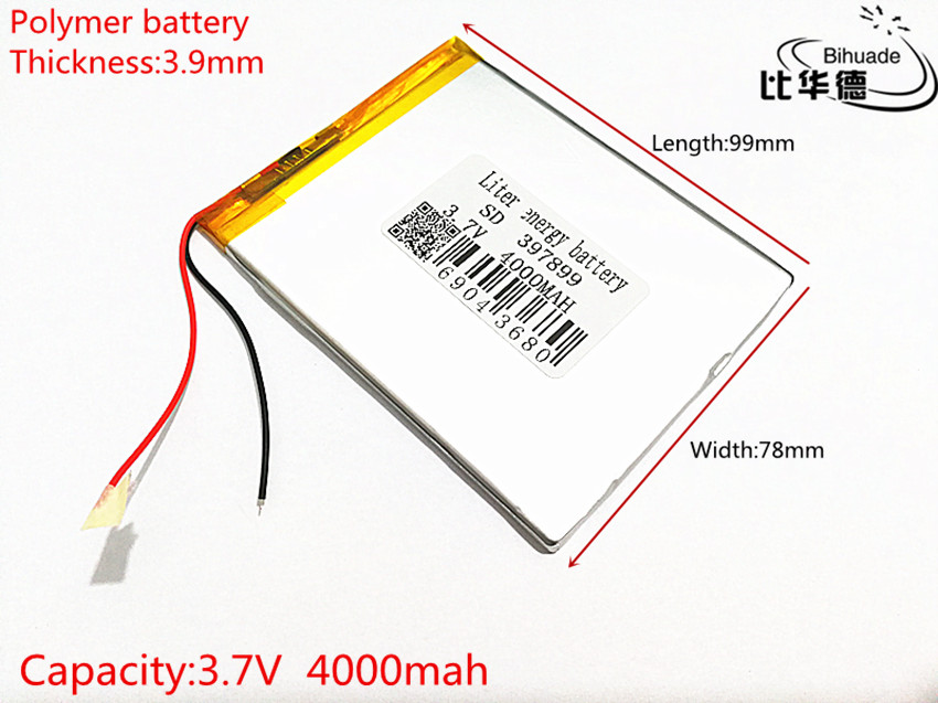 Free Shipping 3.7V 4000 mah 7 inch song mei G2 tablet MID products lithium-ion polymer battery