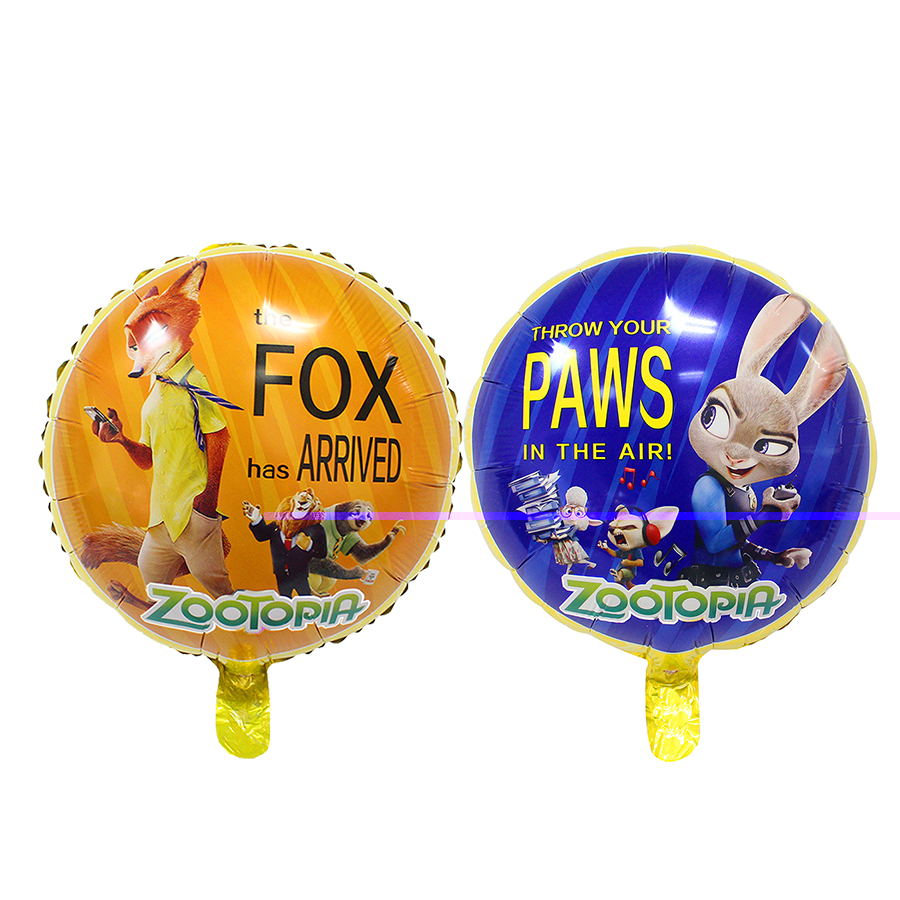 Crazy balloon animals - 18inch Zootopia Foil Balloons Crazy Animal City Firm Zootopia Balloon Boy Birthday Party Decor Ballon Kids