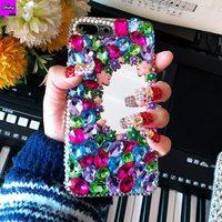 Luxury Lady Rhinestone Stone Jewelled Mirror Case For Samsung Galaxy A5 A510 A520 A720 A710 A310