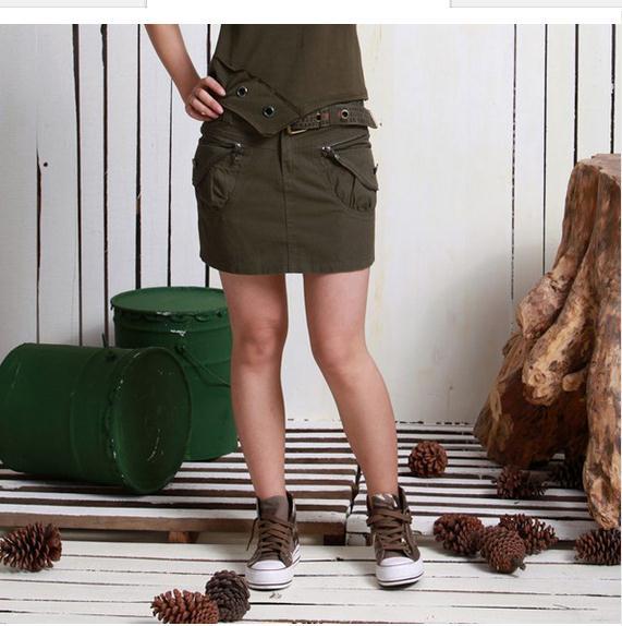 2017 Summer Womens Casual Slim Personalized Army Skirts Fashion Camouflage Mini Skirts S 2Xl Military Fashion