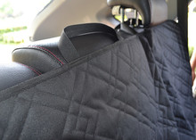 Large Size Deluxe Quilted Non-Slip Car Back Seat Cover with Side Flap for Pets Rear Bench Dog Cat Seat Protector for SUVs Truck