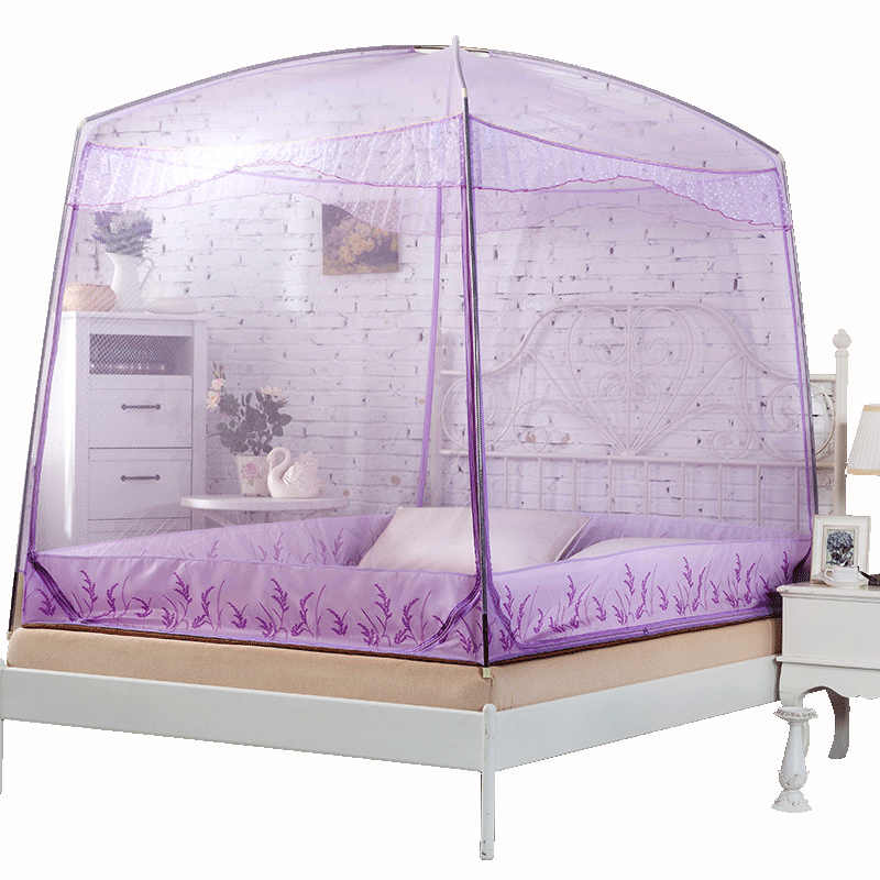 Large Double Bed Mosquito Net Insert Bed Canopy For Room Decor Camp Student Bed Tent Lace Mosquito Netting Curtain Dome Canopy