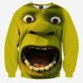 Maqueta caliente! nuevos hoodies de los hombres/de las mujeres 3d sudaderas impresión Frankenstein Sorprendido Monroe jerseys largos de la manga camisetas de los hoodies