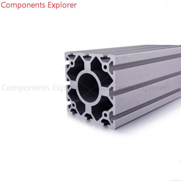 Arbitrary Cutting 1000mm 120120 Aluminum Extrusion Profile,Silvery Color.