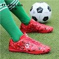 Niños Zapatillas de Deporte 2017 Zapatos Botas de Fútbol de Los Muchachos Niños Deportes Al Aire Libre del Fútbol de Los Hombres Desgaste Transpirable Uñas Rotas Zapatos AG