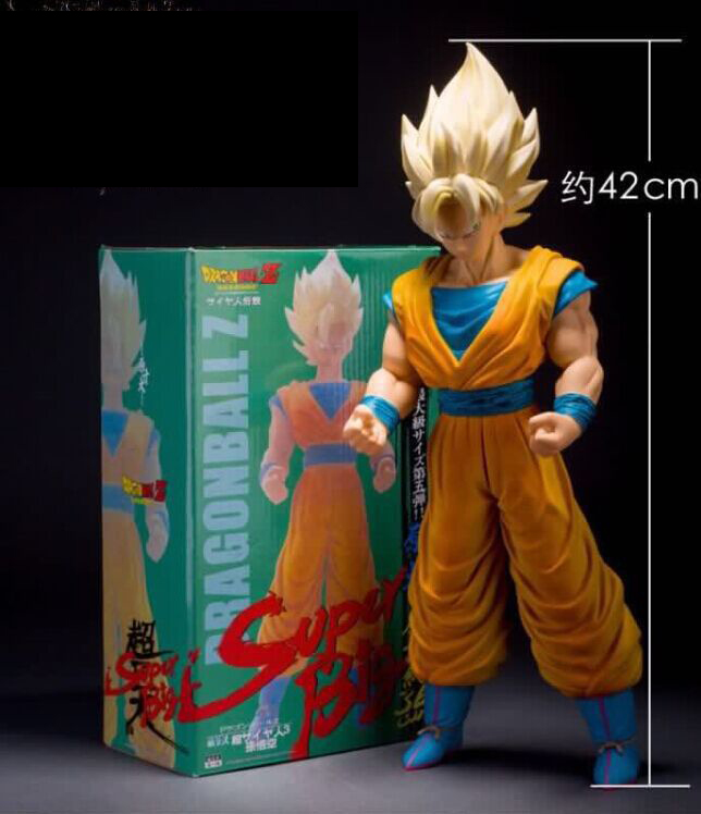 Dragon Ball Z Super Big Size Super Saiyan Son Goku PVC Action Figure Collectible Model Toy 43cm KT3933 2pcs lot dragon ball z super saiyan model toys resolution of soldier son goku vegeta pvc action figure toy 18 20cm