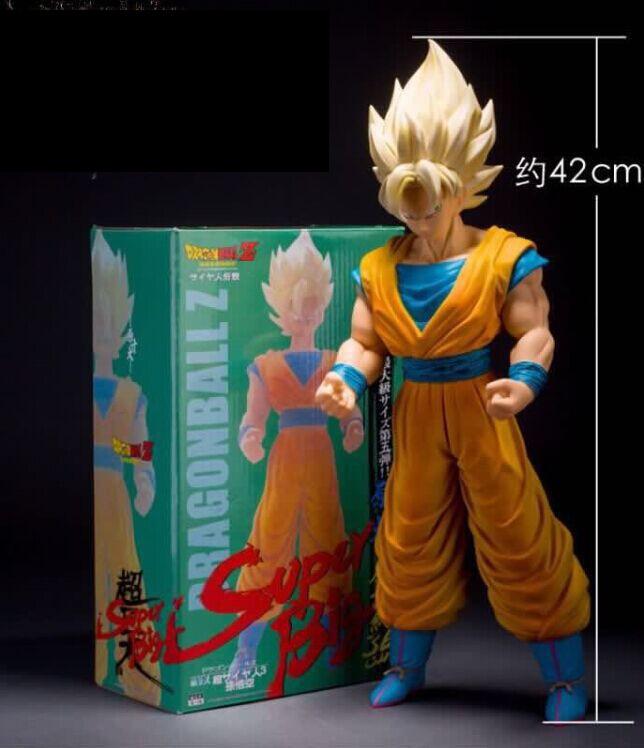 Dragon Ball Z Super Big Size Super Saiyan Son Goku PVC Action Figure Collectible Model Toy 43cm KT3933 shfiguarts batman injustice ver pvc action figure collectible model toy 16cm kt1840