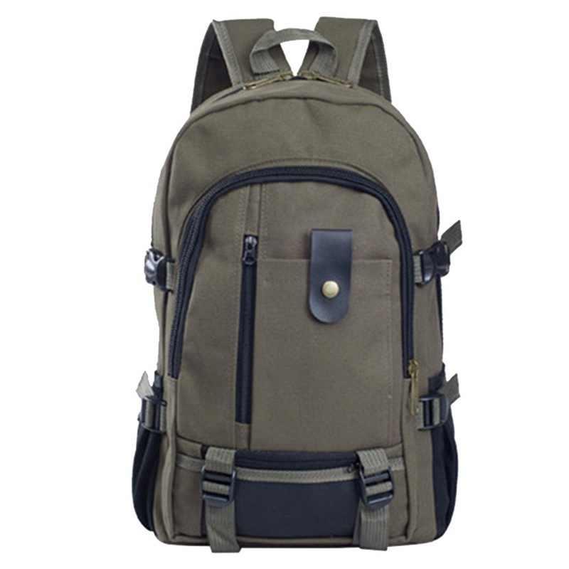 WENYUJH erkek kanvas sırt çantası büyük kapasiteli okul çantası patlama çanta eğlence sözleşmeli seyahat sırt çantası gençler okul çantaları