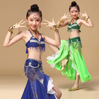 New Style Belly Dance Costume Clothes Wear Kids Dance Child Bellydance Children Gift Indian Dance 2pcs