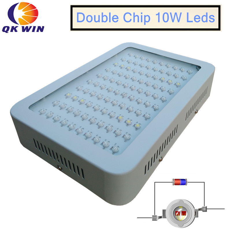 France Dropshipping 6pcs/lot 1000W LED Grow Light 100x10W With Double Chip 10W Chip Leds Full Spectrum LED Grow Light
