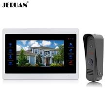 JERUAN 7 inch LCD Screen Touch key Video door phone Speaker Recording Intercom System Waterproof COMS Camera In Stock