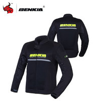 BENKIA Motorcycle Mesh Jacket Men Motocross Off Road Racing Jacket Moto Jacket Chaqueta Moto Verano Black