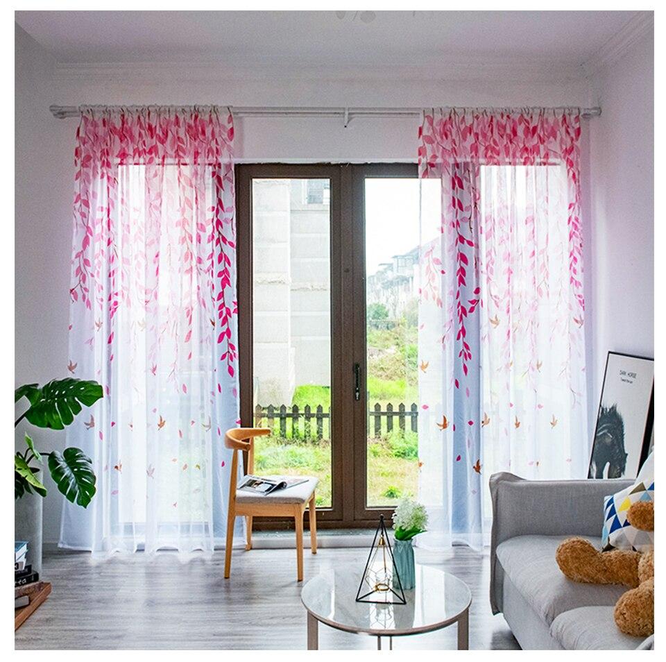 Aosidi willow moderno tule cortinas para sala
