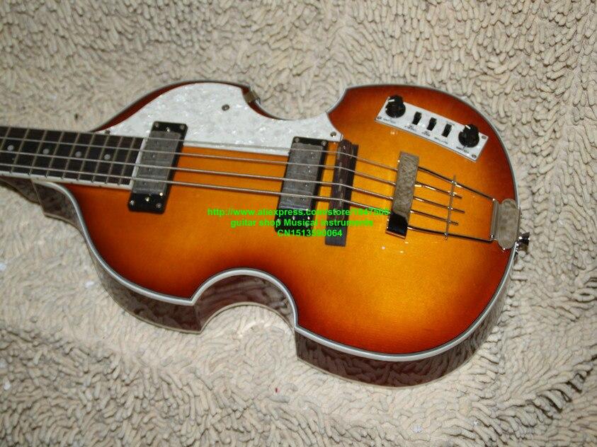 Guitares basses Honey Burst 4 cordes Violon Basse Nouvelle Arrivée Chine Guitare Usine Meilleur instruments de musique