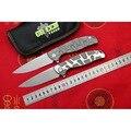 Зеленый шип новая футболка-узор F95 Флиппер складной нож D2 лезвие Титан ручка Подшипник Открытый Отдых Охота карманные ножи