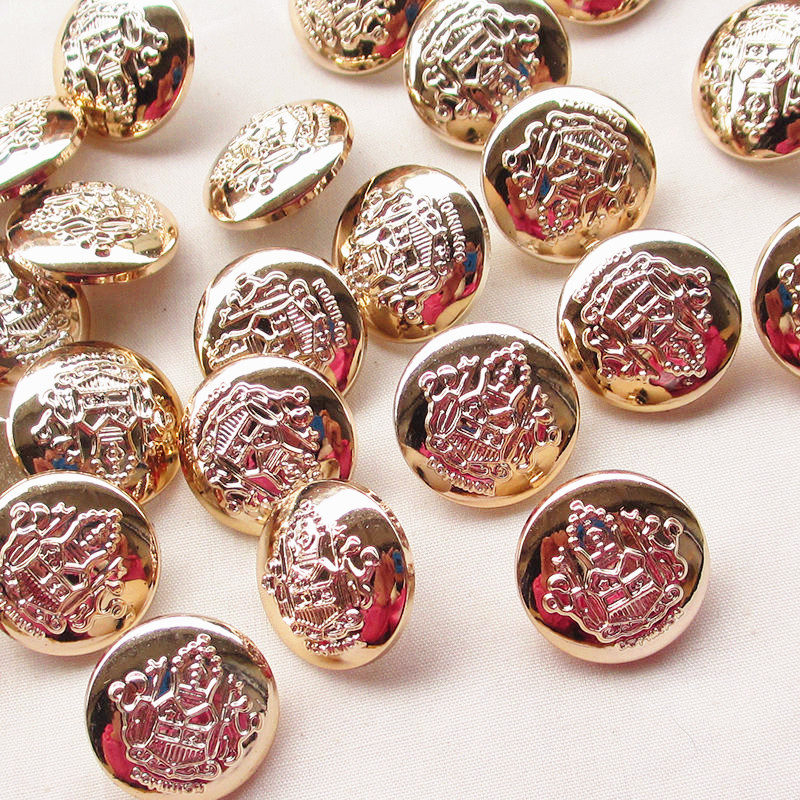 New 20pcs Rose Gold Plastic Buttons 22mm Sewing Craft