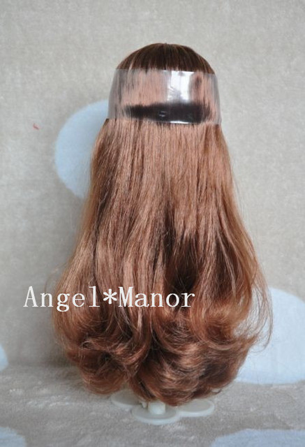 scalp with hair for Blyth, not doll, brown long hair, with normal skin, For Girl's Gift TP0021