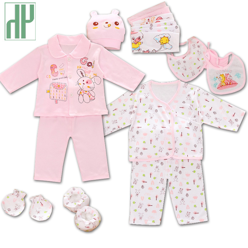 18pcs/set 100% cotton newborn baby clothing gift sets infants cute cartoon suit Spring Summer baby girls boys clothes tracksuit emotion moms 29pcs set newborn baby girls clothes cotton 0 6months infants baby girl boys clothing set baby gift set without box