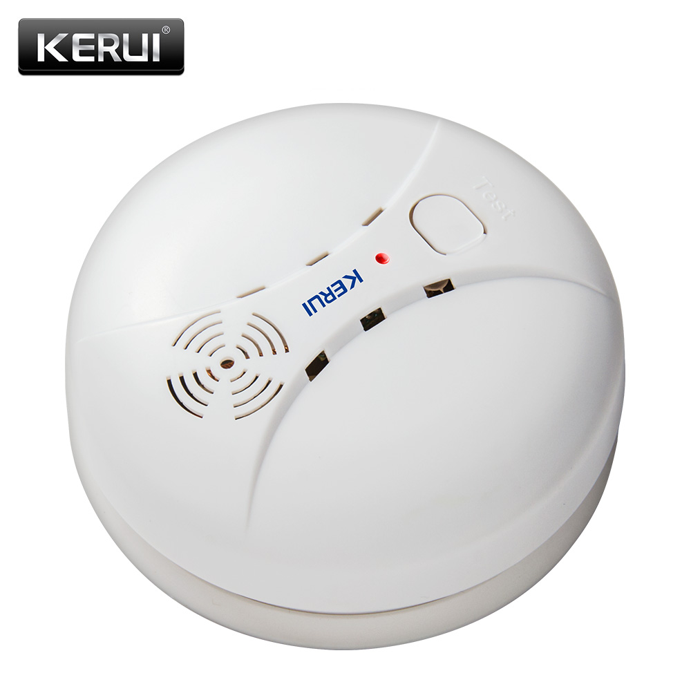 KERUI GS04 433MHz Wireless Smoke Detector Fire Sensor For G18 W18 GSM WiFi Security Home alarm system Auto Dial alarm Systems circle