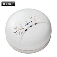 315 433MHz Wireless Smoke Detector Fire Sensor For GSM WIFI Security Home Alarm System Auto Dial