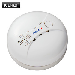 KERUI GS04 433 МГц беспроводной детектор дыма пожарный датчик для G18 W18 GSM WiFi охранная домашняя сигнализация система автоматического набора сигнал...