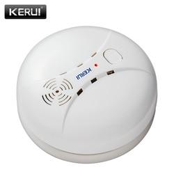 KERUI GS04 433MHz Wireless Smoke Detector Fire Sensor For G18 W18 GSM WiFi Security Home alarm system Auto Dial alarm Systems