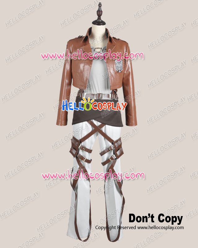 Attack On Titan Shingeki No Kyojin Cosplay Eren Yeager Legion Costume Leather Ver H008