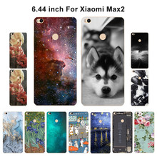 Cases For Xiaomi Mi Max2 Soft Silicone Case for Xiaomi Mi Max 2 Scenery Flower Painted Cover Phone for Xiomi Mi Max 2 Fundas(China)