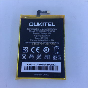 OUKITEL WP5000 Helio P25 Octa Core 5.7  100% original battery battery 5200mAh Long standby time MTK6757
