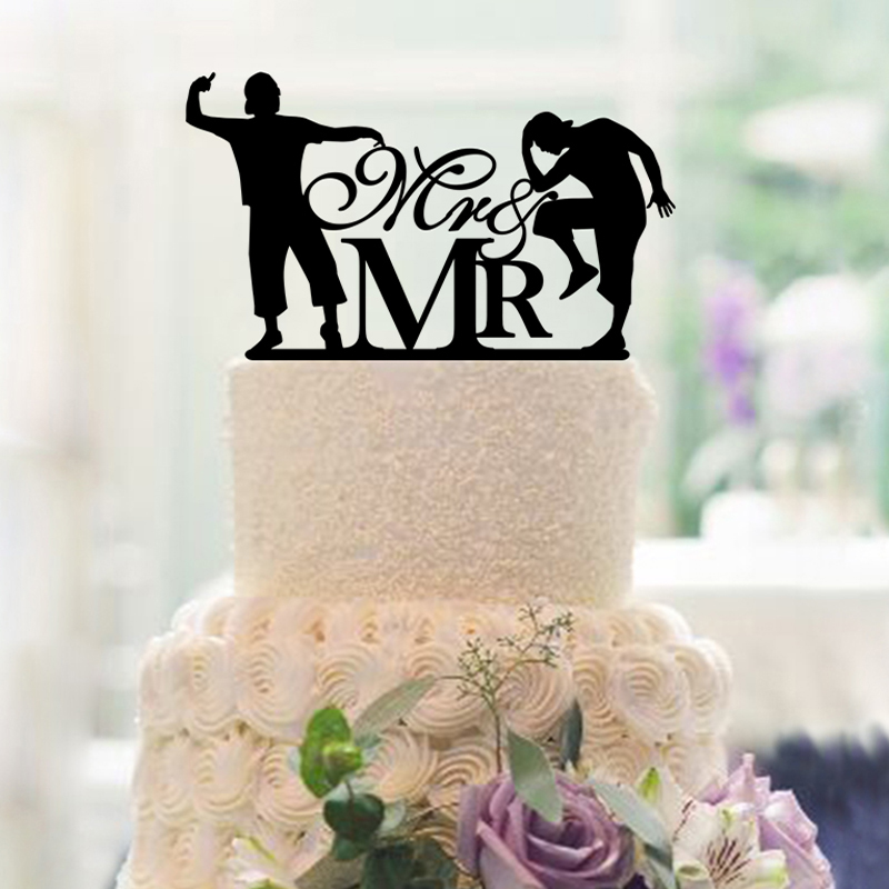 Special  Wedding Cake Toppers Custom For Mr & Mrs  Personalized - Festive and Party Supplies