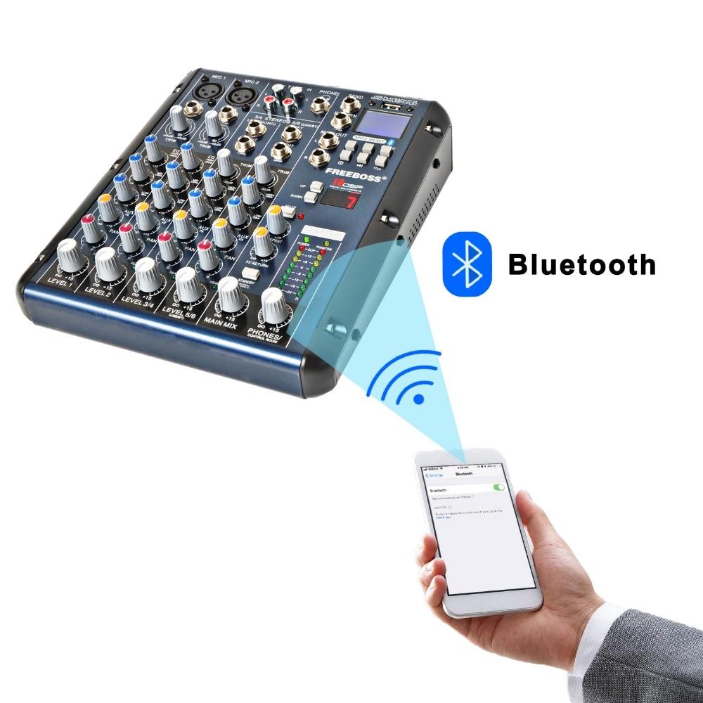 Freeboss SMR6 Bluetooth USB Record 2 Mono + 2 stereo 6 Kanale 3 Band - Audio dhe video në shtëpi - Foto 2