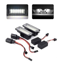 2X LED license plate light without errors for VW Volkswagen EOS 06 ~ GOLF 4/5/6/7 LUPO 99 Passat CC 09 Beetle 2006-2010