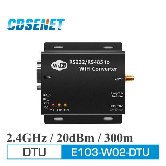 2.4GHz WIFI DTU โมดูล RF ไร้สาย RS232 RS485 Serial Port CDSENET E103 W02 DTU CC3200 2.4GHz WIFI Server