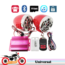 Motorcycle Scooter Alarm Audio System Remote Control Bluetooth Speakers Stereo Amplifier FM Radio MP3 Player for kawasaki z750