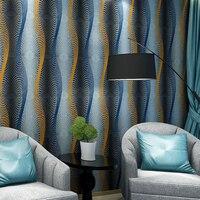 beibehang Modern Abstract Wavy Stripes KTV Deep Embossed Wallpaper Dining Room Bedroom Living Room Tv Background new Wall paper