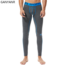 GANYANR Running Tights Men Basketball Sports Fitness Gym Leggings Compression Pants Athletic Bodybuilding Yoga Jogging Winter