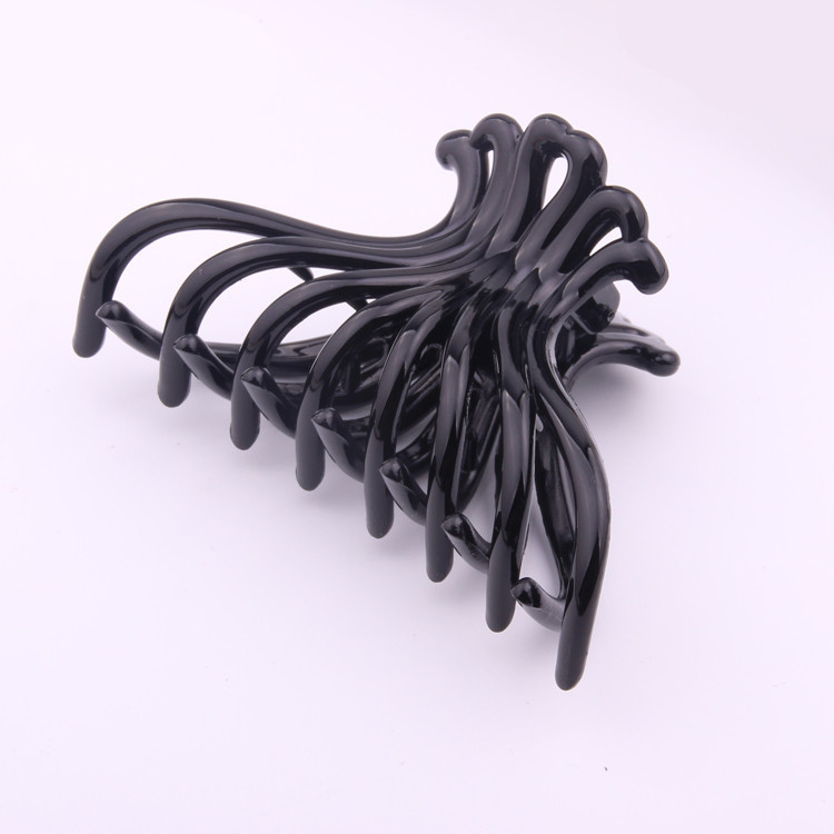 New Large Black Hollow out Hair Accessories Plastic Crab Jaw Claws Clips for Women Girls Hair Ornament Hair Grip Jewelry  haimeikang large size plastic hairpins candy color hair clip shiny crab hair claws for women girl hair clips hair accessories
