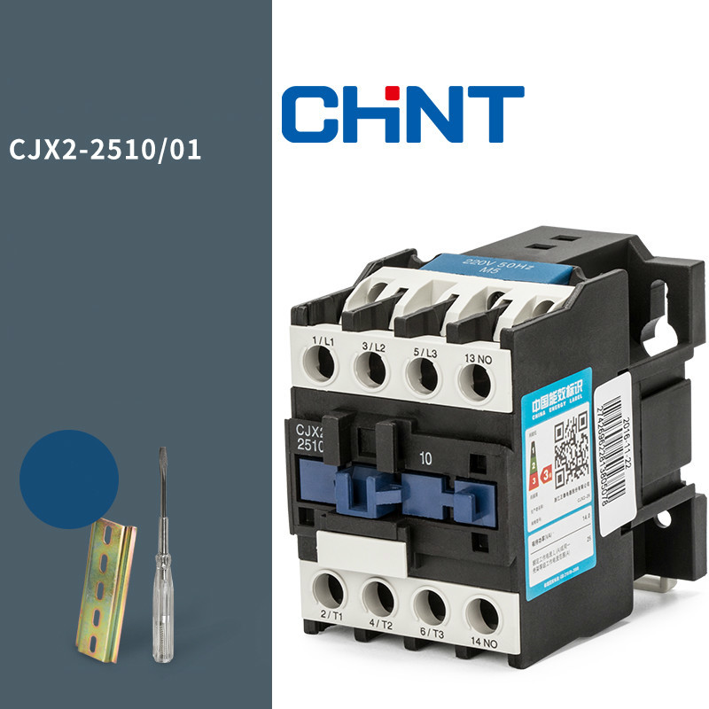 CHINT Communication Contactor Cjx2-2510 25a Single-phase 220V Three-phase 380V 24V 110V sayoon dc 12v contactor czwt150a contactor with switching phase small volume large load capacity long service life
