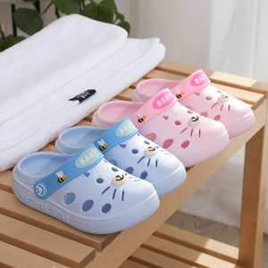 Kids Slippers Sandals Shoes Toddler Animation Girl Infant Baby Boys Cartoon Cat Rubber