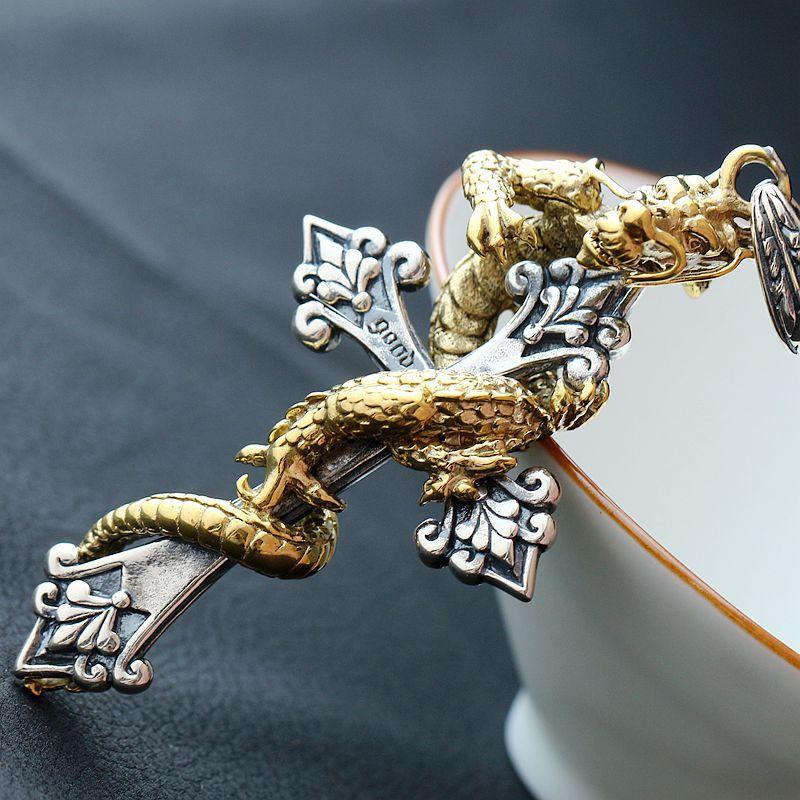 Ge bijoux en argent sterling en gros pendentif croix en argent pour hommes pendentif en argent Vintage 925 pendentif en argent Sterling