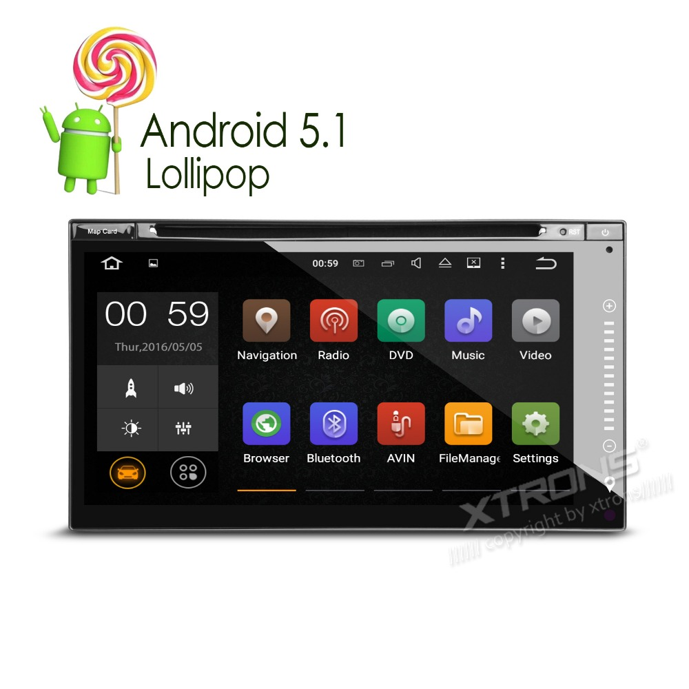 Aliexpress com buy xtrons 6 95 inch hd touch screen 2 din android 5 1 universal car dvd player 1080p video gps navigation stereo radio obd2 dab mp4 from