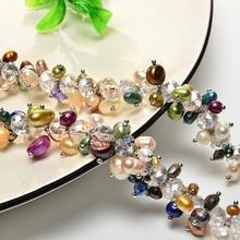 Женское длинное ожерелье,, натуральный жемчуг, Стерлинговое Серебро, цепочка, драгоценный камень, ручной работы, подарок на вечерние