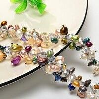Оригинальный натуральный Пресноводный Культивированный Разработанный жемчуг Стерлинговое серебро цепь драгоценный камень подарок для ве...