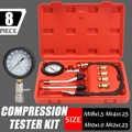 Petrol Rapid Engine Compression Tester Auto Gas Cylinder Automobile Pressure Gauge Tester Automotive Test Kit 0-300psi CN/RU
